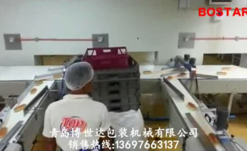 Automatic hot dog packaging line