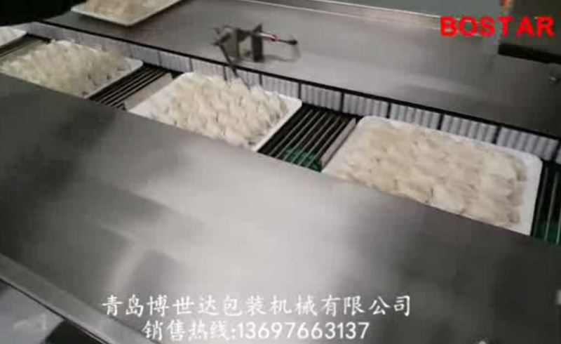 Dumpling with tray packing